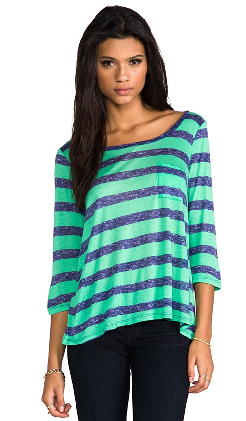 Venetian Heathered Stripe Top