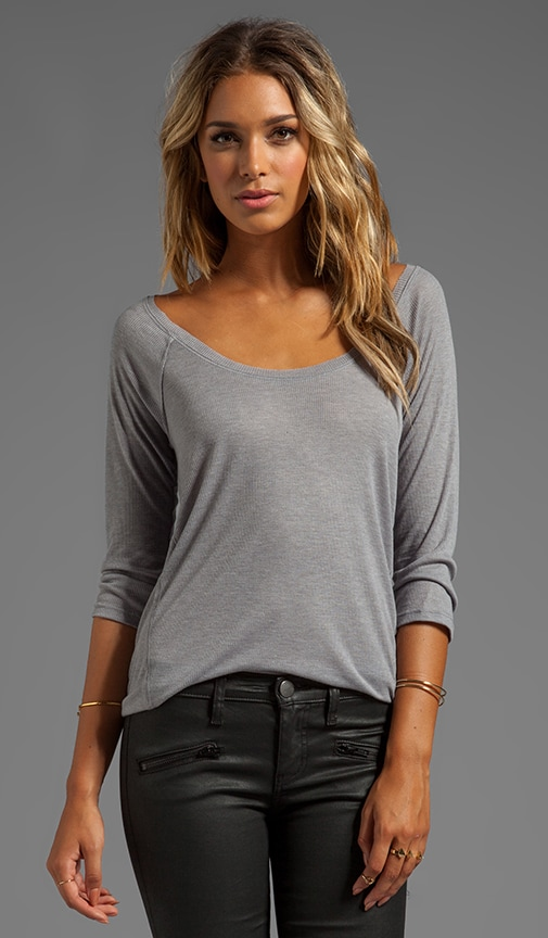 Drapey Rib Long Sleeve