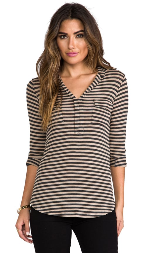 Striped Drapey Lux Shirting Top