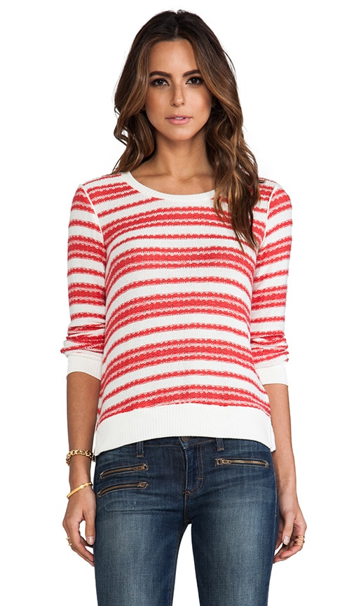 Palisades Stripe Loose Knit Tee