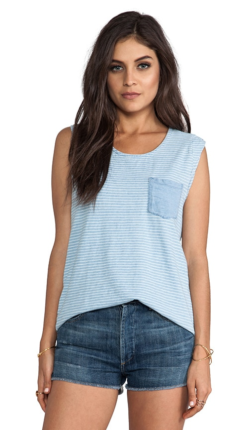 Indigo Blue Knit Tank