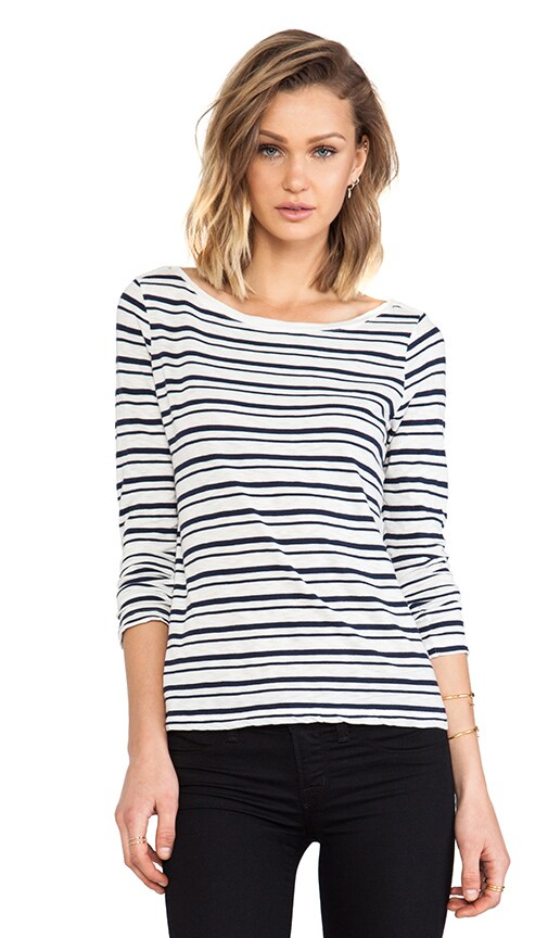 Vintage Coastal Stripe Long Sleeve Tee