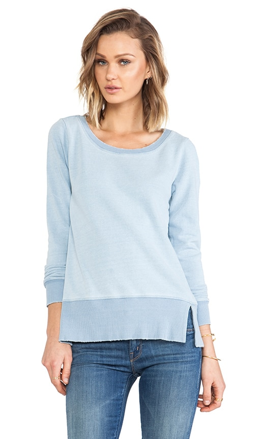 Indigo Blue French Terry Long Sleeve