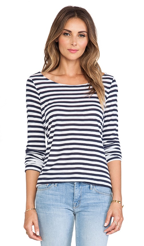 Glen Valley Stripe Long Sleeve Tee