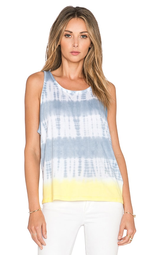 Splendid Karpaz Tie Dye Tank in Grey Mist & Lemoncello