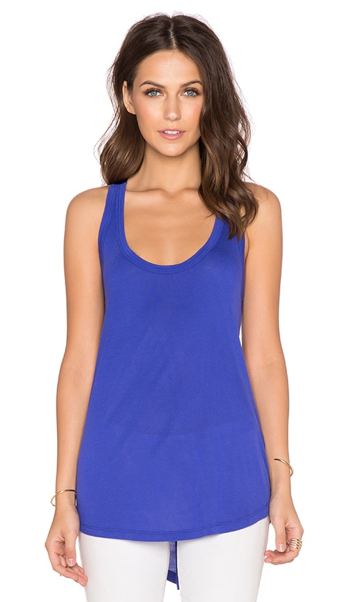 Splendid Midnight Jersey Racerback Tank in Cobalt