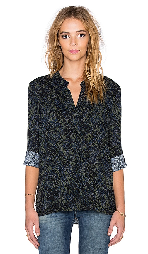 Batik Crocodile Print Top
