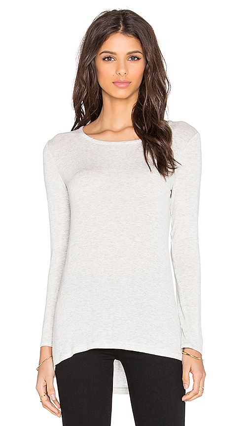Splendid Drapey Lux Long Sleeve Tee in Perla