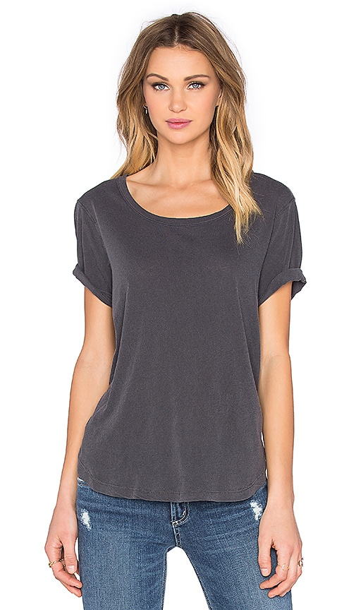 Splendid Vintage Whisper Scoop Neck Tee in Gray