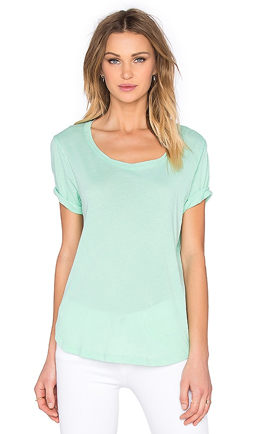 Splendid Vintage Whisper Scoop Neck Tee in Green