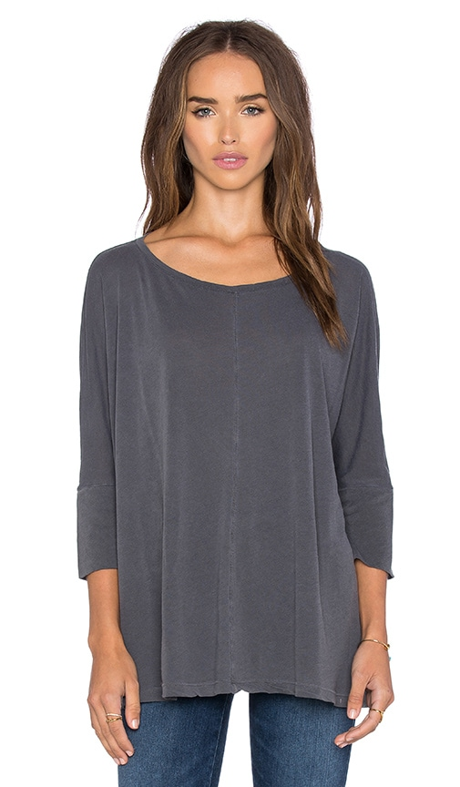 Splendid Vintage Whisper 3/4 Sleeve Tee in Gray