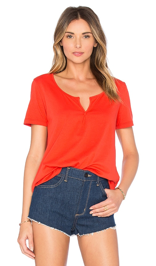 Splendid Baby Jersey Deep V Tee in Fiery Red