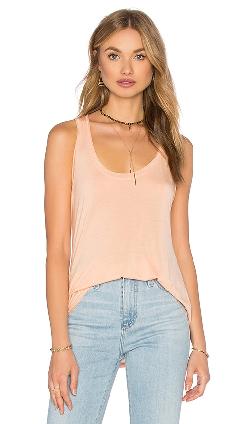 Splendid Yuma Garment Dye Jersey Tank in Peach