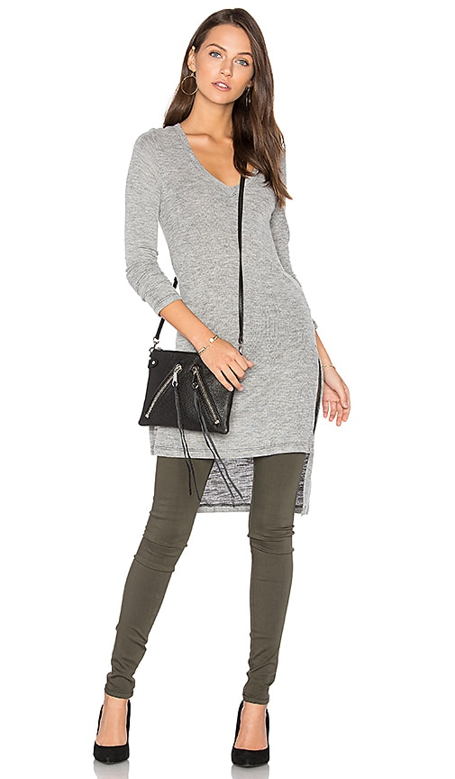 Splendid Long Sleeve Hi-Lo Tunic in Gray