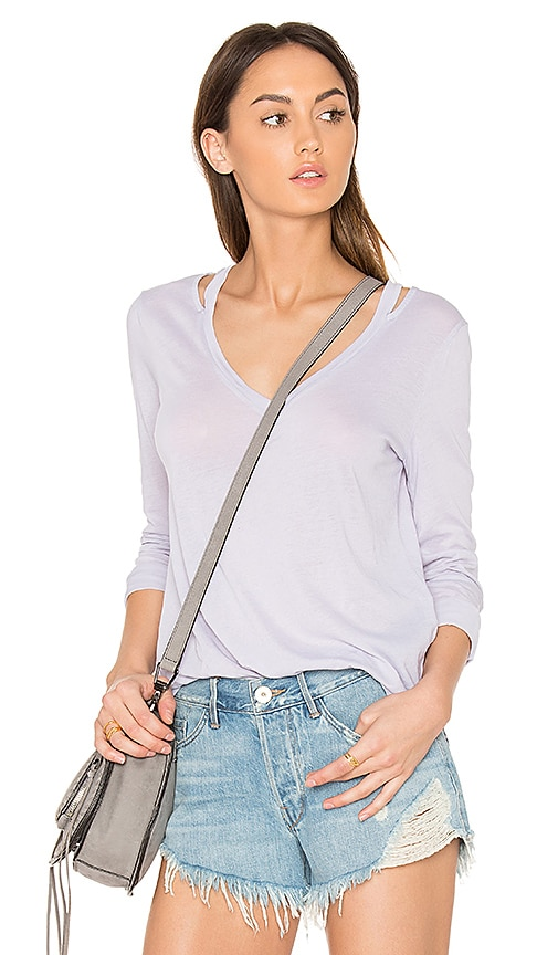 Splendid Vintage Whisper Long Sleeve Top in Gray