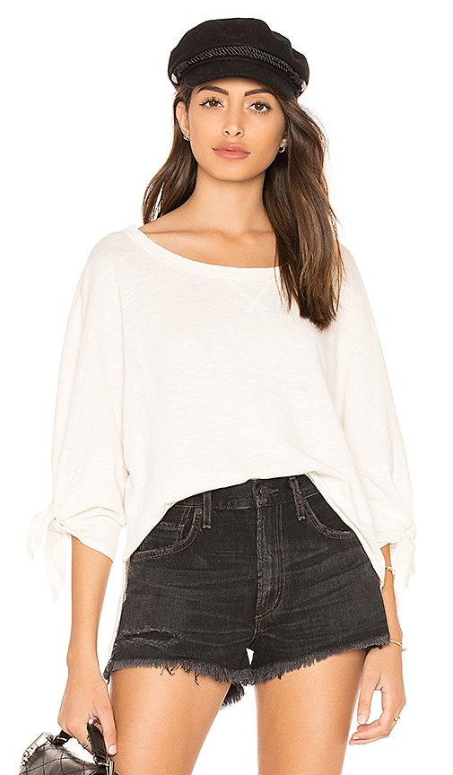 Splendid Cotton Slub Top in Ivory