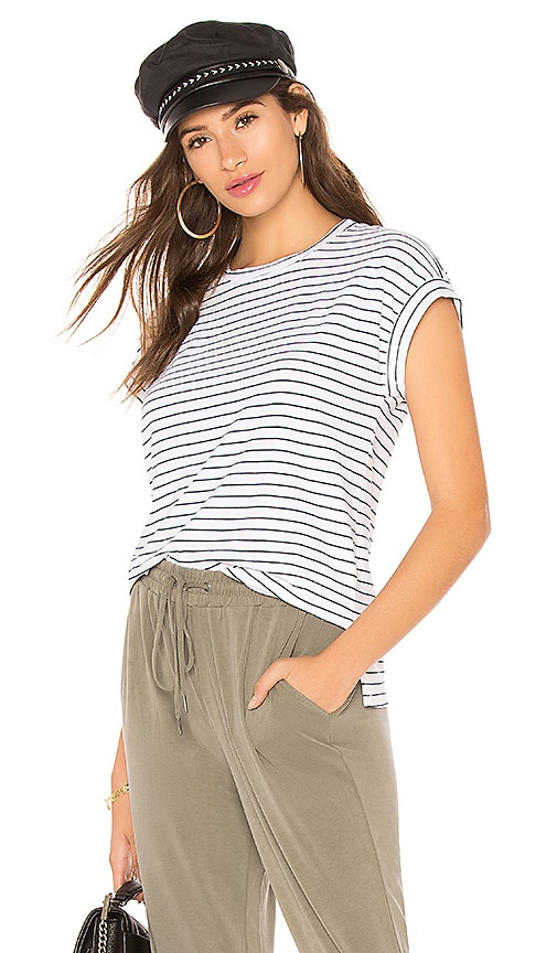 Splendid Essentials Stripe T Shirt in White