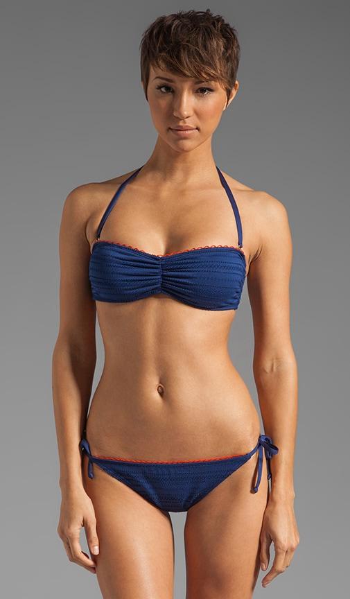 Ginger Eyelet Bandeau Bra Bikini