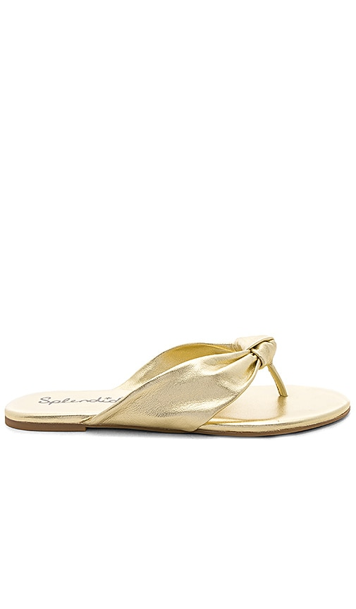 Splendid Bridgette Sandal in Metallic Gold