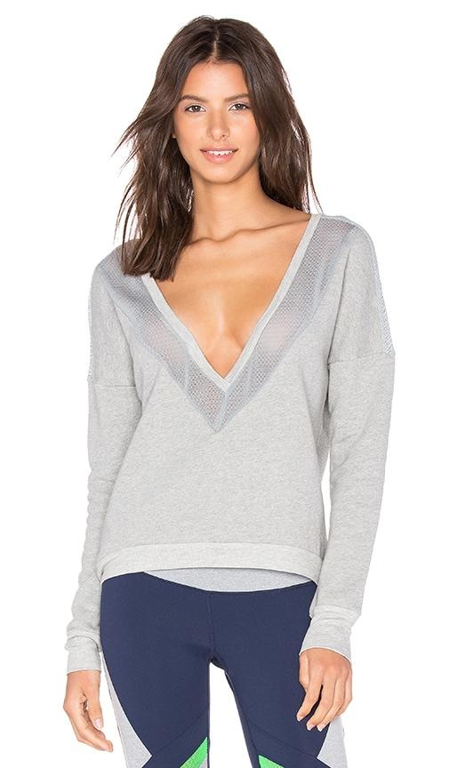 Splits59 Adrian Sweatshirt in Heather Light Grey