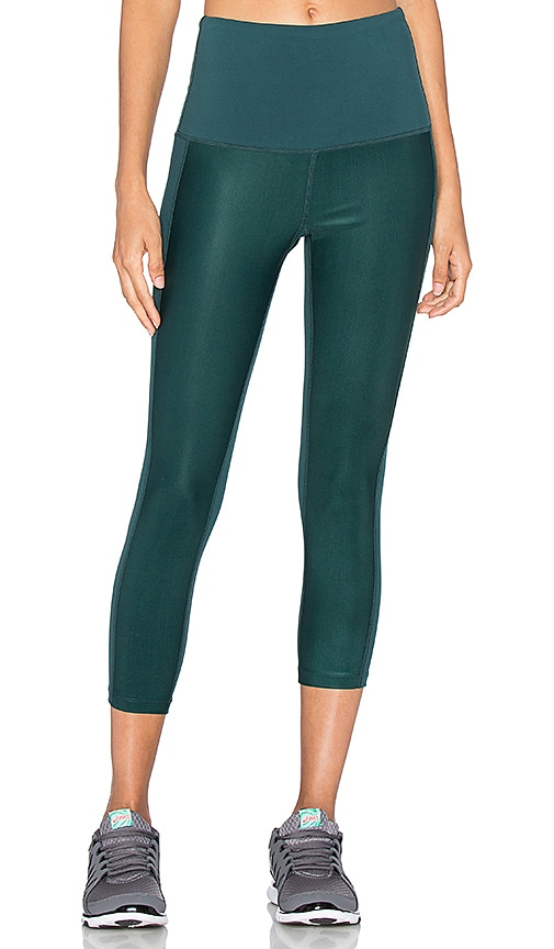 Splits59 Justice High Waist Capri in Green
