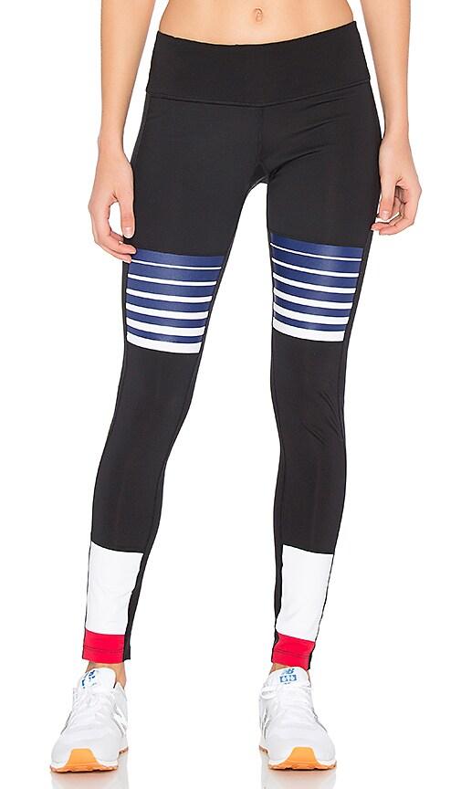 Splits59 Field Legging in Black, Horizon, & White in Black