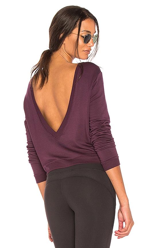Splits59 Deux Crop Pullover in Purple