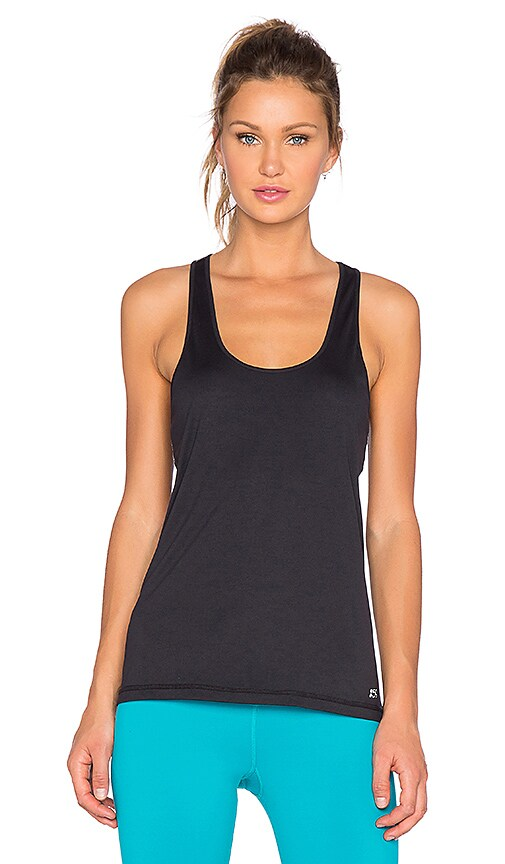 Splits59 Lexie Cut Out Racerback Tank in Black & Heather Grey