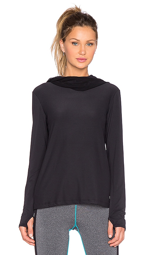 Splits59 Gwen Net Hoodie in Black