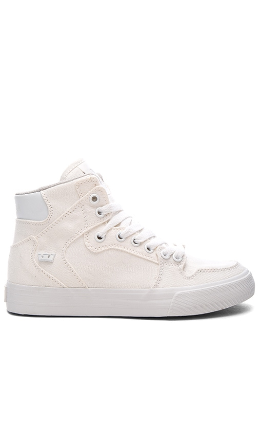 Supra Vaider D High Top Sneaker in Ivory