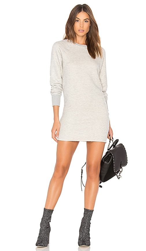 Spiritual Gangster Heart Sweatshirt Dress in Gray