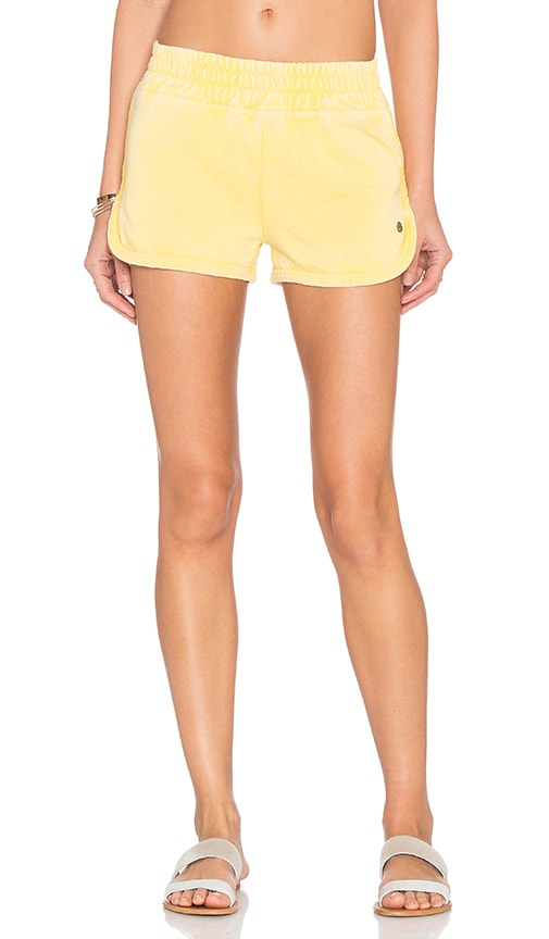 Spiritual Gangster Sunshine Burnout Retro Gym Short in Sunshine