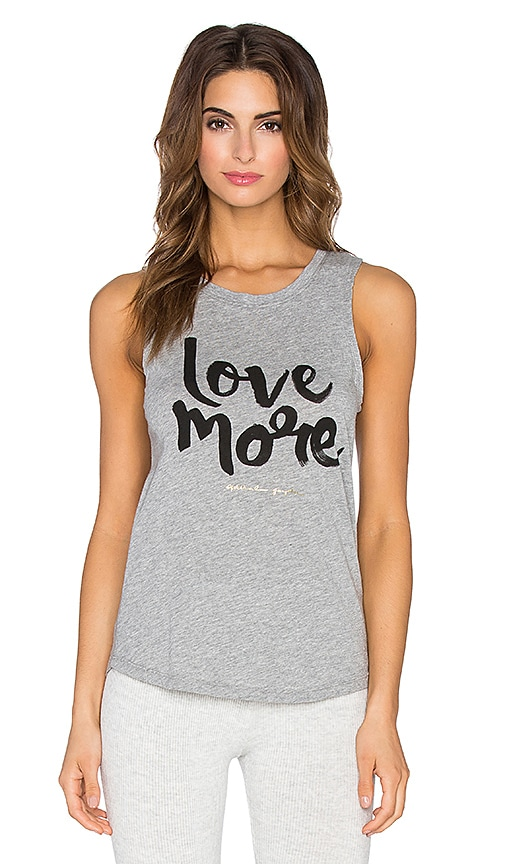 Spiritual Gangster Love More Muscle Tank in Heather Grey