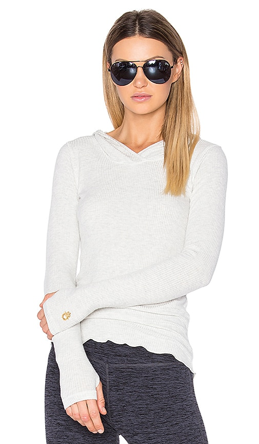 Spiritual Gangster Ballet Layering Hoodie in Light Gray