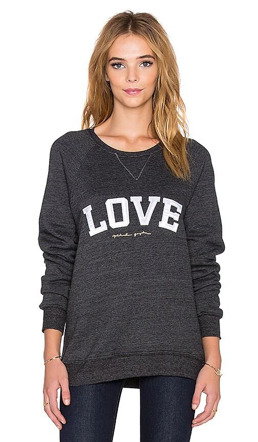 Spiritual Gangster Love Arch Varsity Sweatshirt in Black