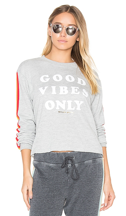 Spiritual Gangster Good Vibes Only Sweatshirt in Gray