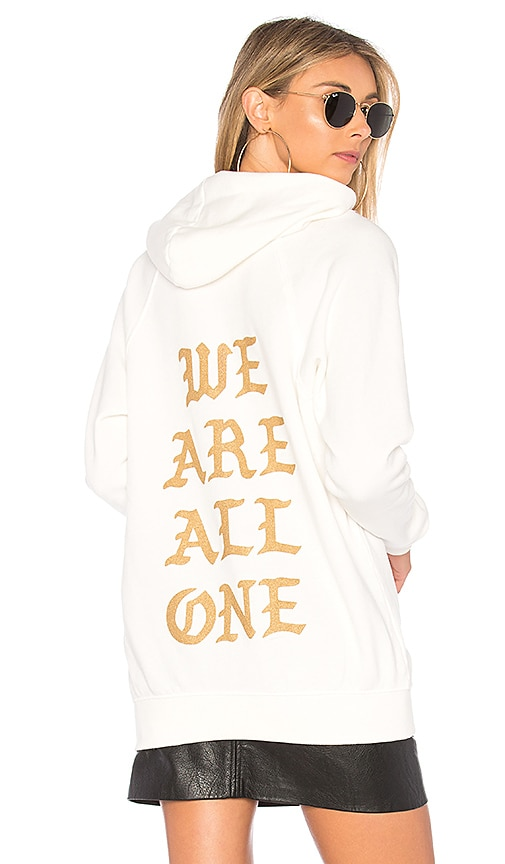 Spiritual Gangster All One Old English Downtown Hoodie in White