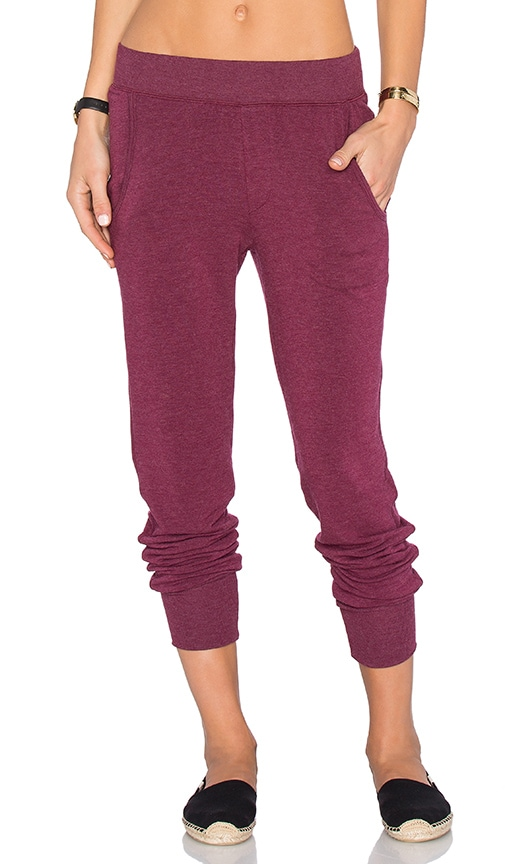 Spiritual Gangster Laguna Sweatpant in Burgundy