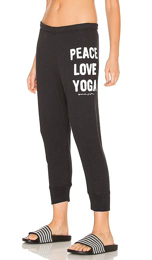 Spiritual Gangster Peace Love & Yoga Sweatpant in Black