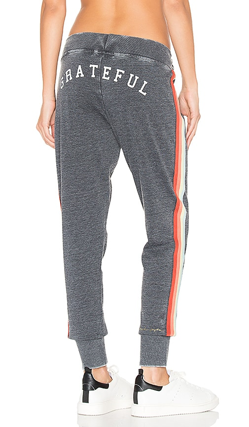 Spiritual Gangster Grateful Rainbow Sweatpant in Charcoal