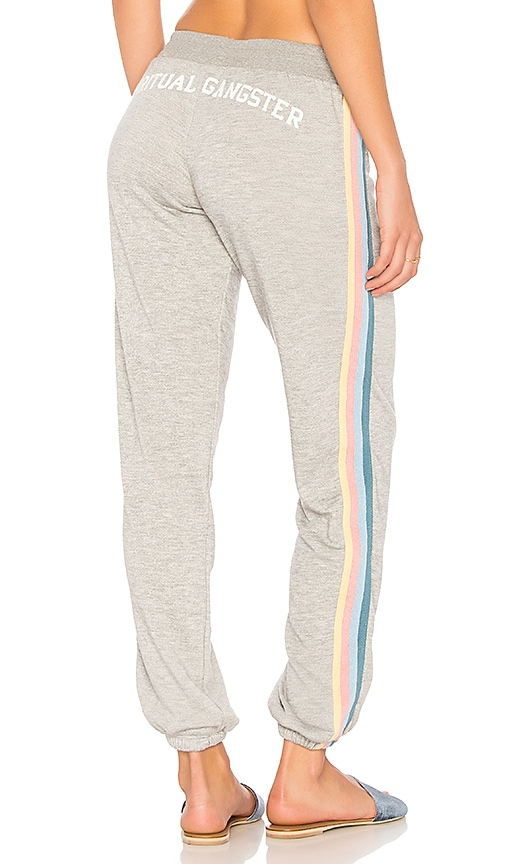 Spiritual Gangster SG Varsity Arch Bliss Sweatpant in Gray