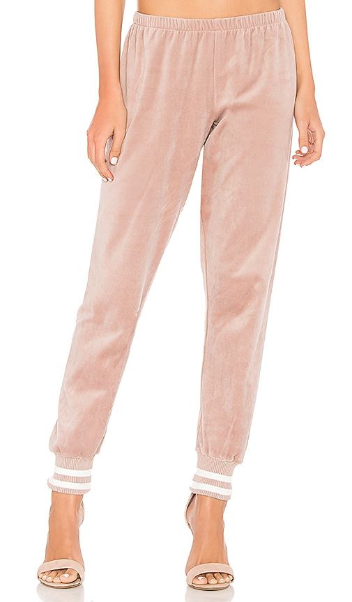 Spiritual Gangster Velour Jogger in Pink