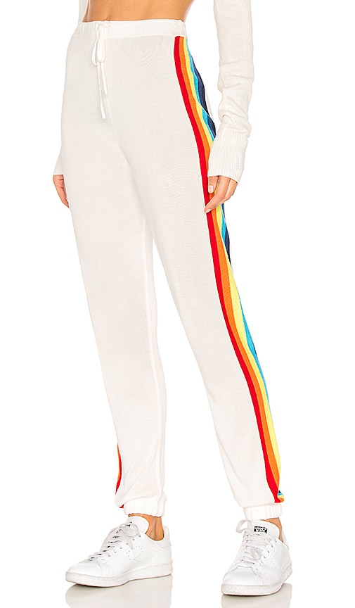 Spiritual Gangster Rainbow Bebe Pant in White