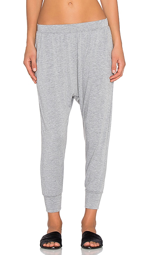 Spiritual Gangster Crop Harem Pant in Heather Grey
