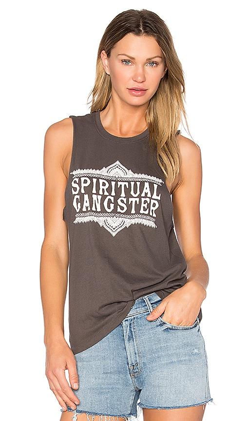 Spiritual Gangster SG Sahara Logo Tank in Black