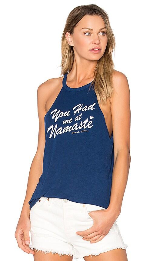 Spiritual Gangster Namaste Script Tank in Blue