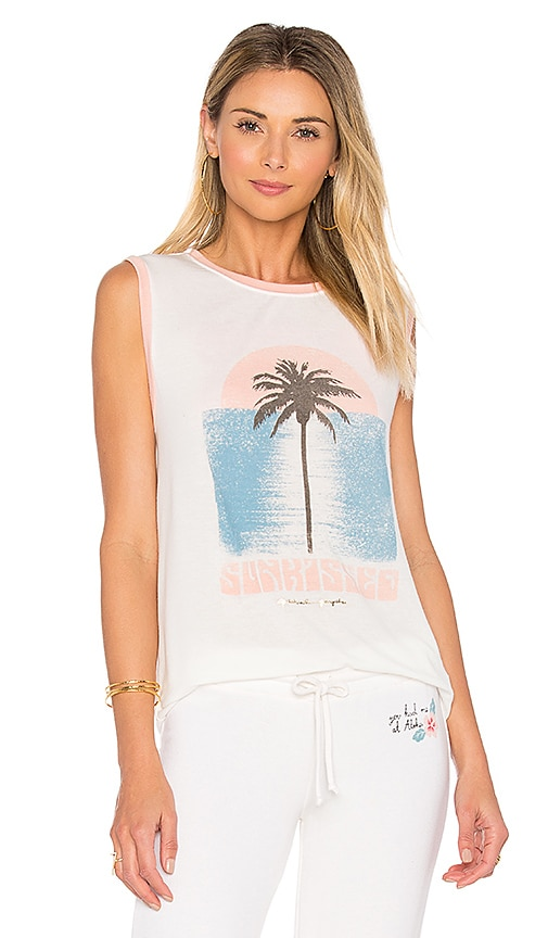 Spiritual Gangster Sunkissed Palm Chakra Tank in White