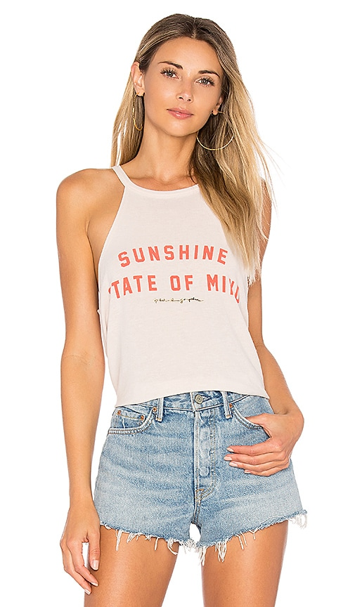 Spiritual Gangster Sunshine State Of Mind Tank in Beige
