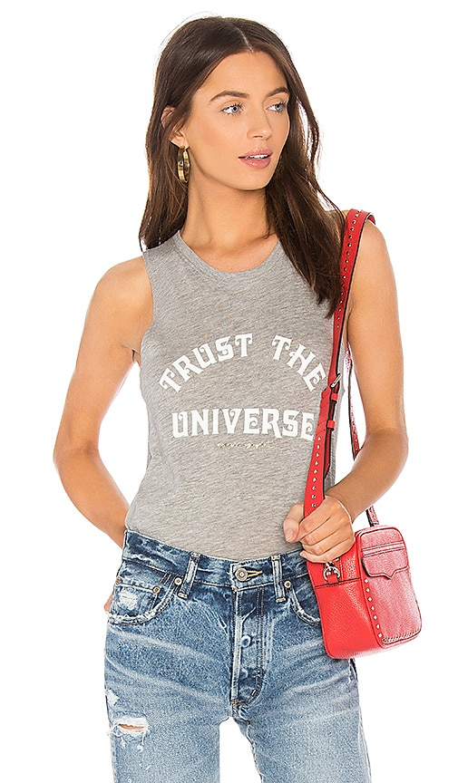 Spiritual Gangster Trust Universe Muscle Tank in Gray