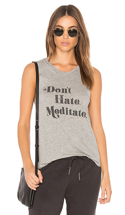 Spiritual Gangster Meditate Muscle Tank in Gray